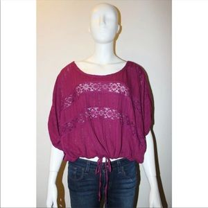 Free People I'm Your Baby Lace Crochet Top XS